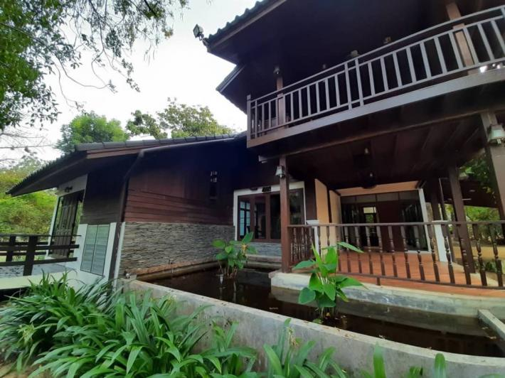 For RENT!! Big Beautiful Wooden house in the tropical style garden At Changpuek area. ‼Best deal‼